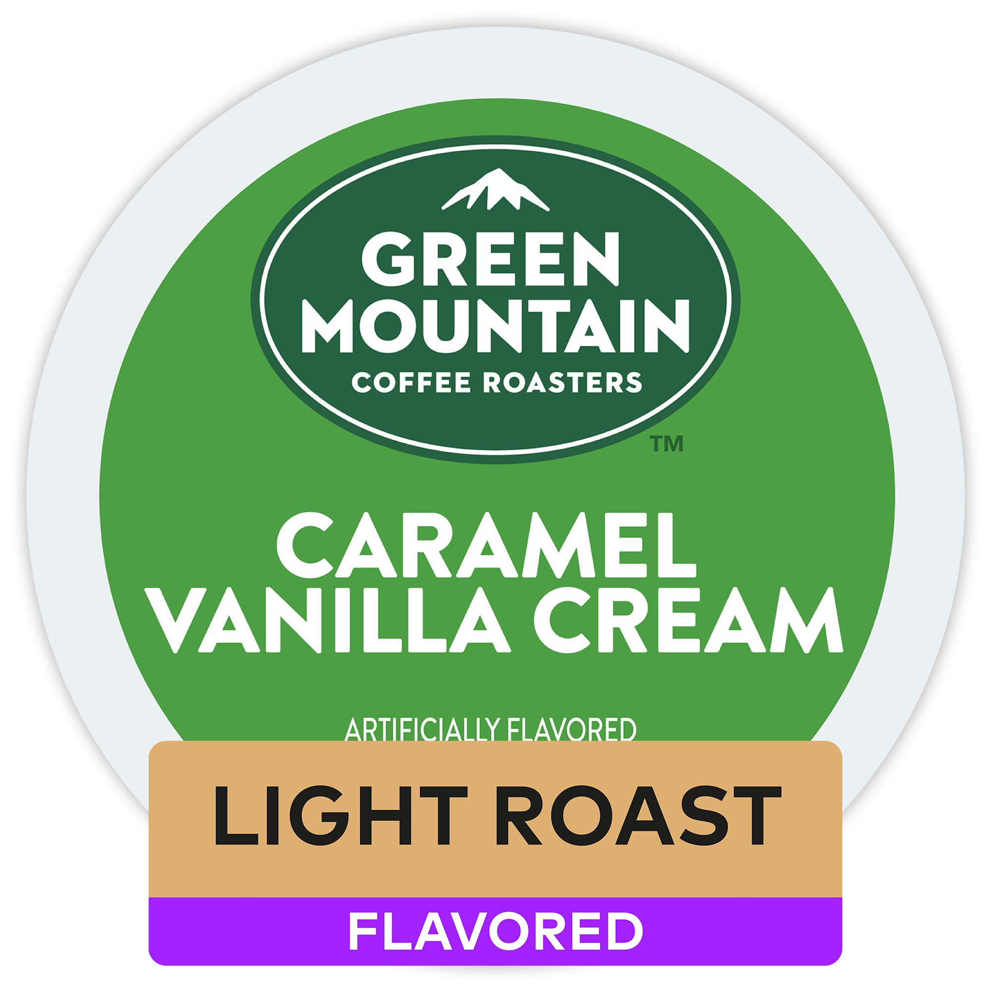 Green Mountain Coffee Roasters Caramel Vanilla Cream, Single Serve Coffee K-Cup Pod, Flavored Coffee, 12 count (Pack of 6), 72 Count by Green Mountain Coffee Roasters