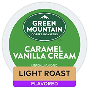 Green Mountain Coffee Roasters Caramel Vanilla Cream, Single Serve Coffee K-Cup Pod, Flavored Coffee, 32