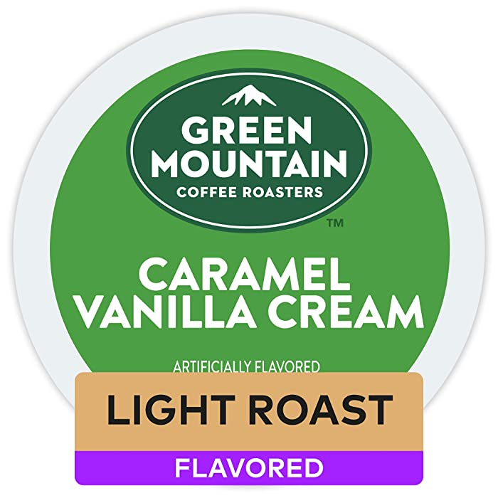 Green Mountain Coffee Caramel Vanilla Cream Keurig Single-Serve Light Roast Coffee K-Cup Pods, 32 Count