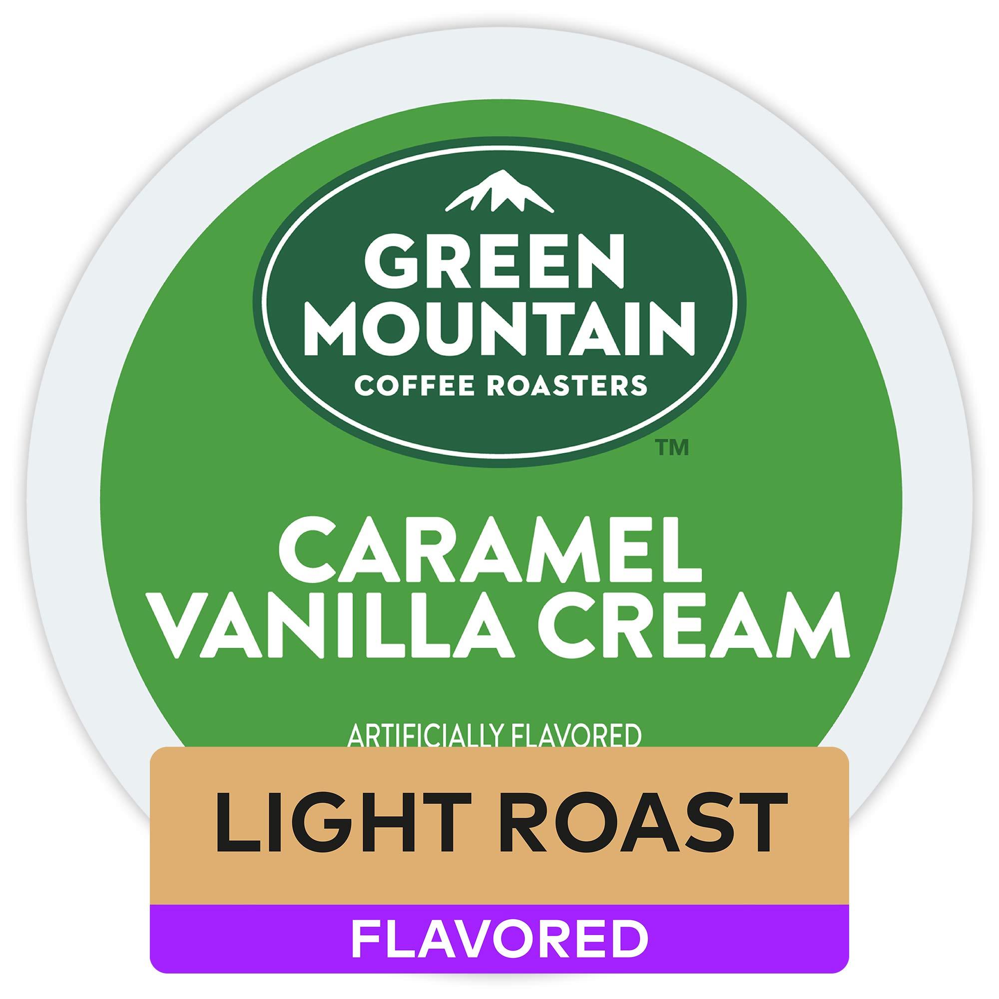 Green Mountain Coffee Roasters Caramel Vanilla Cream, Single Serve Coffee K-Cup Pod, Flavored Coffee, 32