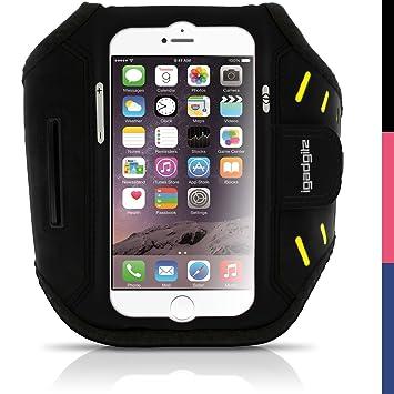 igadgitz Schwarz Wasserabweisend Leichtes Neopren Sports Jogging Armband Laufen Fitness Oberarmtasche für Apple iPhone 6 & 6S