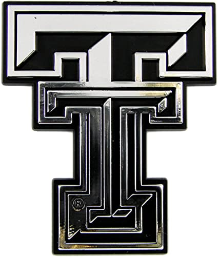NCAA Texas Tech Red Raiders Chrome Auto Emblem