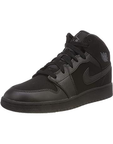 promo code 1783e 8c018 Nike Boys  Air Jordan 1 Mid (Gs) Basketball Shoes Black