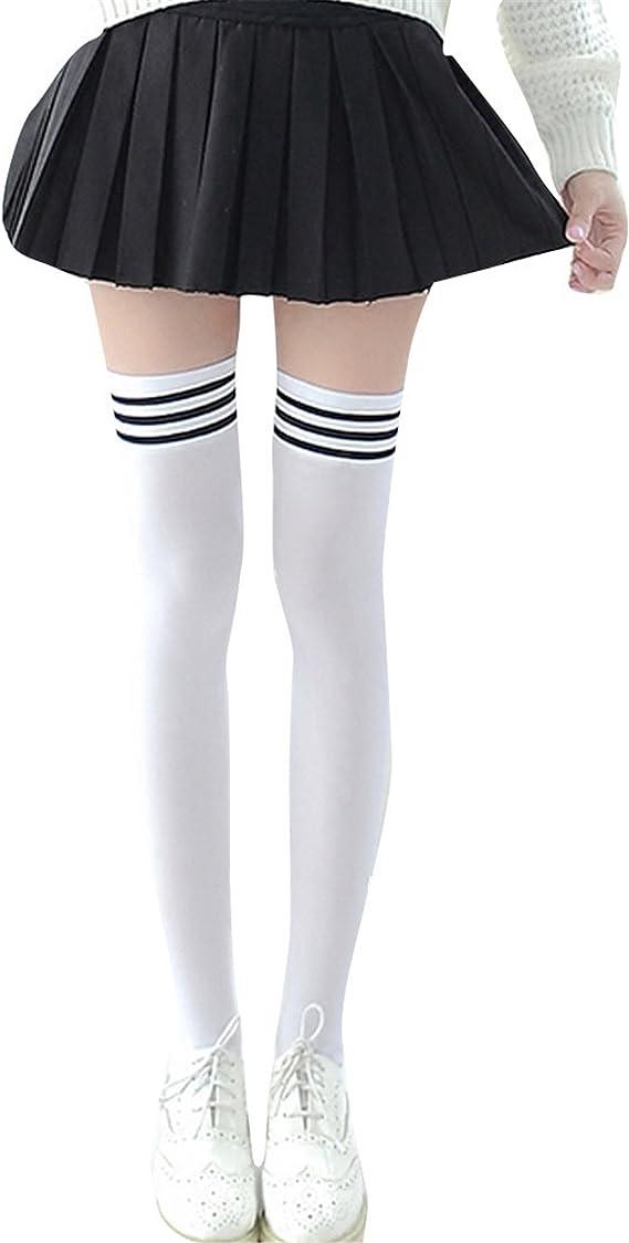 Longra Medias para Mujer, Mujer Algodón Calcetines hasta la Rodilla Medias, (Blanco): Amazon.es: Ropa y accesorios