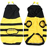 sourcingmap Size M Yellow Black Pet Yorkie Dog Apparel Clothes Hood Coat Jacket Pullover