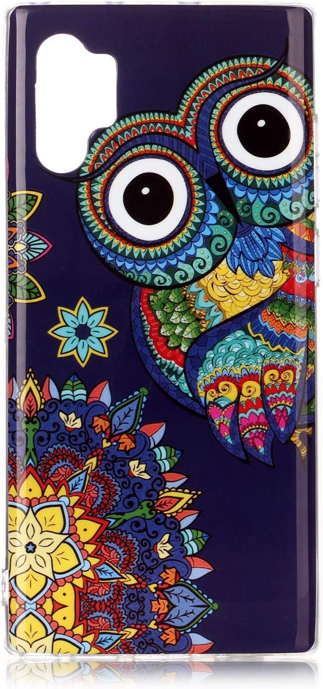 Amocase Glow in Dark Silicone Case with 2 in 1 Stylus for Samsung Galaxy Note 10 Plus//Note 10 Plus 5G,Stylish Colorful Printed Luminous Noctilucent Flexible Soft TPU Shockproof Case,Colorful Graffiti