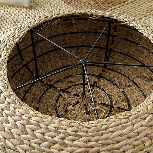 Pouf in Stile Giapponese Lavorato A Mano in Stile Cavo Pouf Cuscino da Pavimento Cuscino Seduta Cuscino Stanza Imbottita Rotonda Tappetino da Pavimento per Sedile Esterno