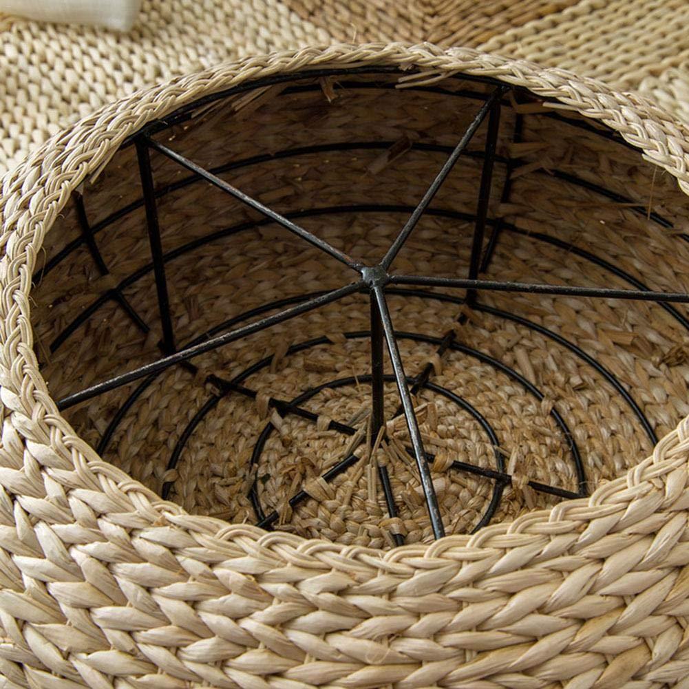 Rund Hand Weben Tatami Yoga Sitzkissen f/ür Yoga Waschbarer Bezug aus Baumwolle Ardentity Yogakissen Meditationskissen Rund