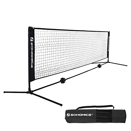 SONGMICS 5m Tennis Badminton Net Adjustable Foldable International Standard Large SYQ500H
