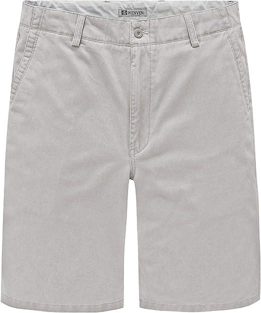 TALLA 38. WenVen Pantalones Cortos Bermuda Verano Cargo Hombres