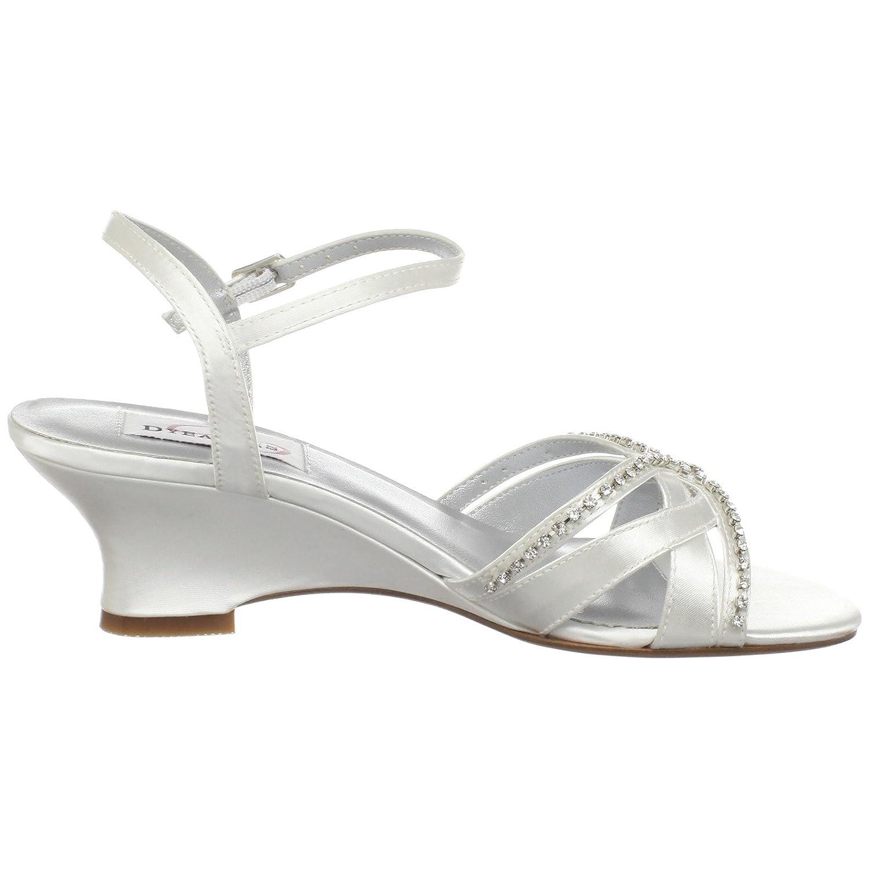 Dyeables Womens Peg Wedge Sandal