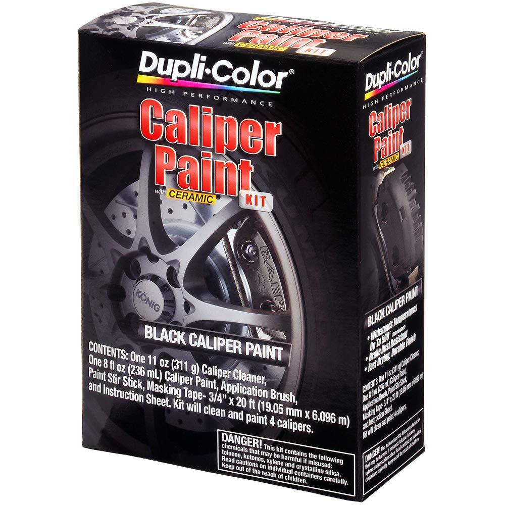 Dupli-Color (BCP402-2 PK Black Satin Brake Caliper Paint Kit - 8 oz. Aerosol, (Case of 2)