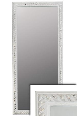 elbmöbel Spiegel weiß groß Vintage 162x72cm im Holzrahmen Shabby ...