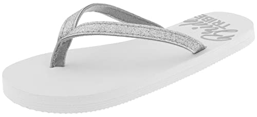 5935f87171e1c8 Capelli New York Ladies Fashion Flip Flops with Bride Tribe Print Silver  Combo 6