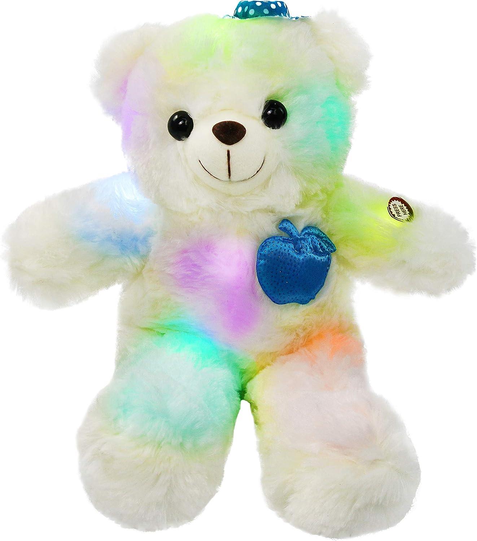 Colorful Glowing Teddy Bear Lighting Stuffed Bear Valentine/'s Day Gift