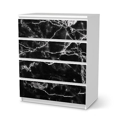 Klebefolie Für IKEA Malm 4 Schubladen | Möbelsticker Klebesticker Tapete  Folie Möbel Dekorieren | Wohnen Und