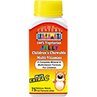 21st Century Vegetarian Children's Chewable Multivitamin, 75ct