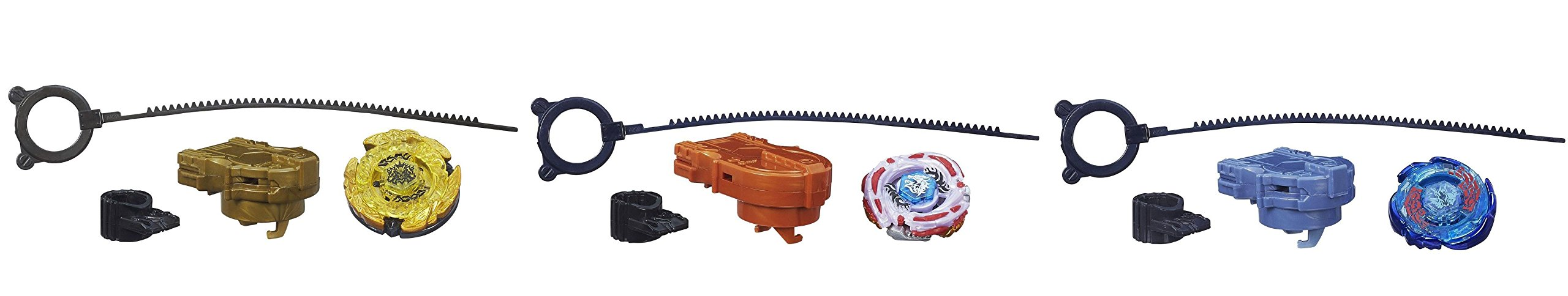 Beyblade Legends BB-99 Hades Kerbecs BD145DS Top, BB-70 Galaxy Pegasus W105R2F Top & BB-88 Meteo L-Drago LW105LF Top Bundle