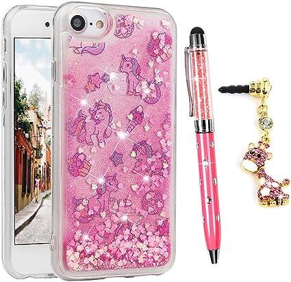 iPhone 6/6s Unicorn glitter liquid case