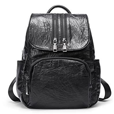Backpack Purse for Women PU Leather Fashion Anti-theft Shoulder Bag Ladies  Large Waterproof Travel f413cc666fdf2