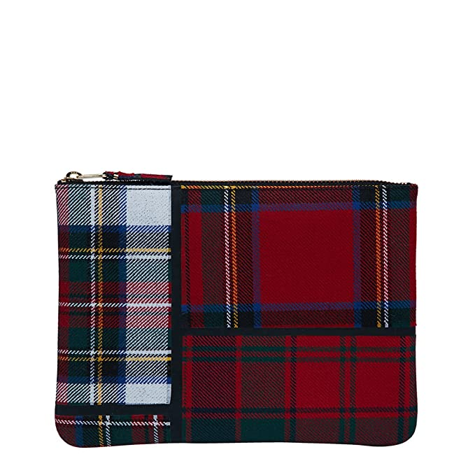 74083688697d Comme des Garcons Tartan Patchwork Big Pouch SA5100TP Red  Amazon.ca   Clothing   Accessories