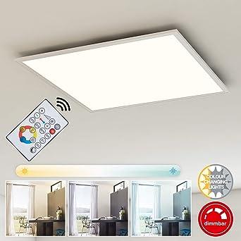 e00dd3deb1b8 Briloner Leuchten- LED Deckenleuchte-Panel, Dimmbar,  Farbtemperatursteuerung, Fernbedienung, 36W,
