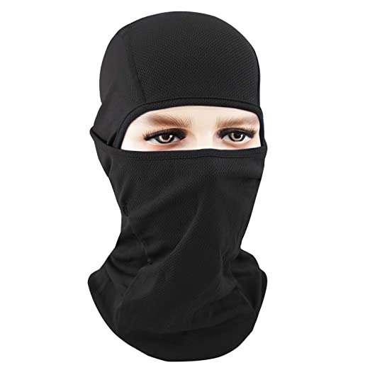 c01b001b835e1 Your Choice Balaclava Black Motorcycle Full Face Mask Sun Protection Thin Face  Mask for Women and