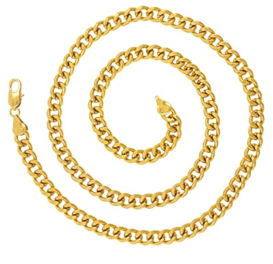f692ea183ba CH236 Dazzling Yellow Gold Chain for Men/Boys/Boyfriend/Husband & Unisex:  Amazon.in: Jewellery