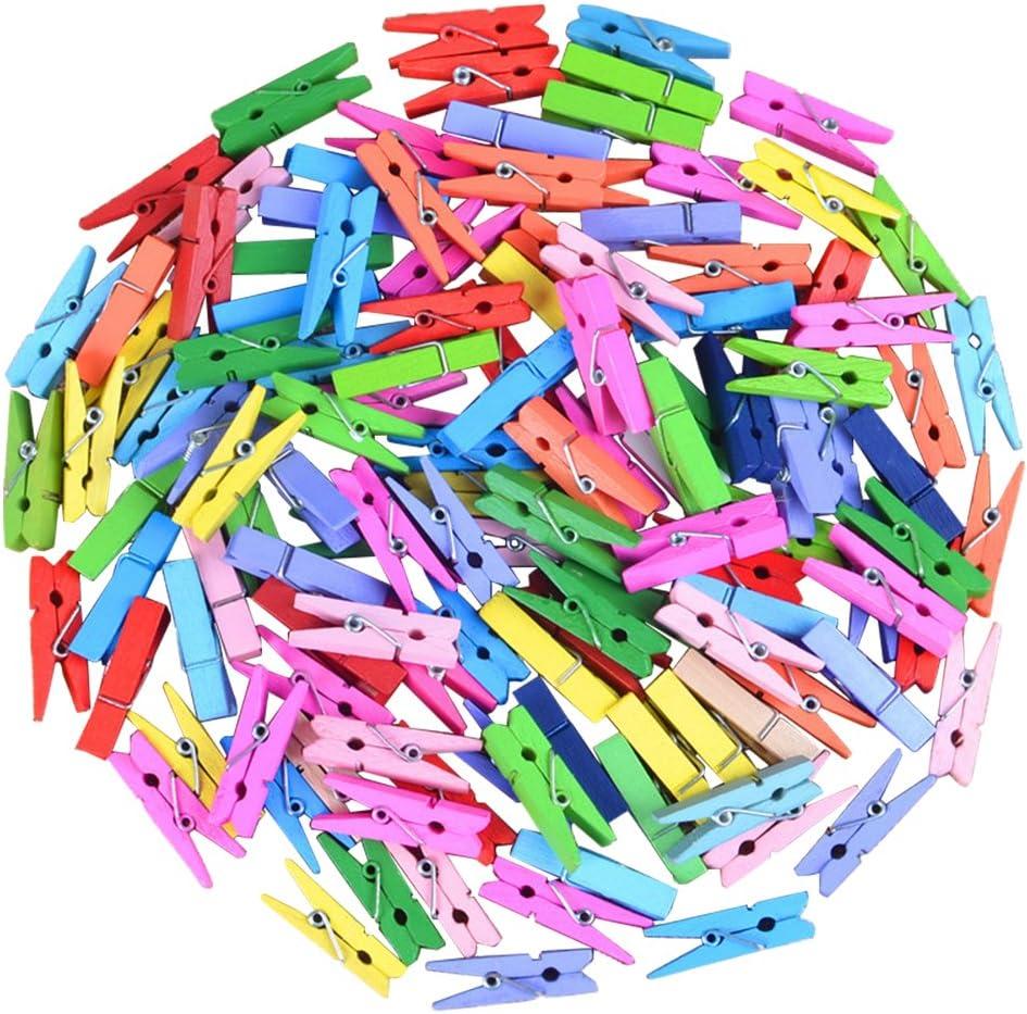 0.8cm Doitsa 50Pcs Petites Pinces /à Linge en Bois Naturel Clip Couleur Craft Maison D/écoration D/écoration de F/ête de Mariage Scrapbooking 3.5