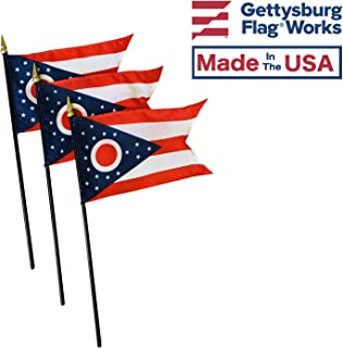 product image for 4x6 E-Gloss Ohio Stick Flag - Flag Only - Qty 3