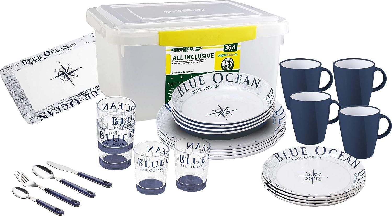 Brunner Blue Ocean 0830154N.C8C, Vajilla: Amazon.es: Hogar
