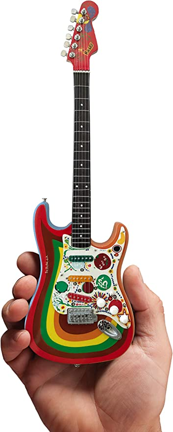 Producto oficial Mini Fender Strat George Harrison Rocky Guitar ...