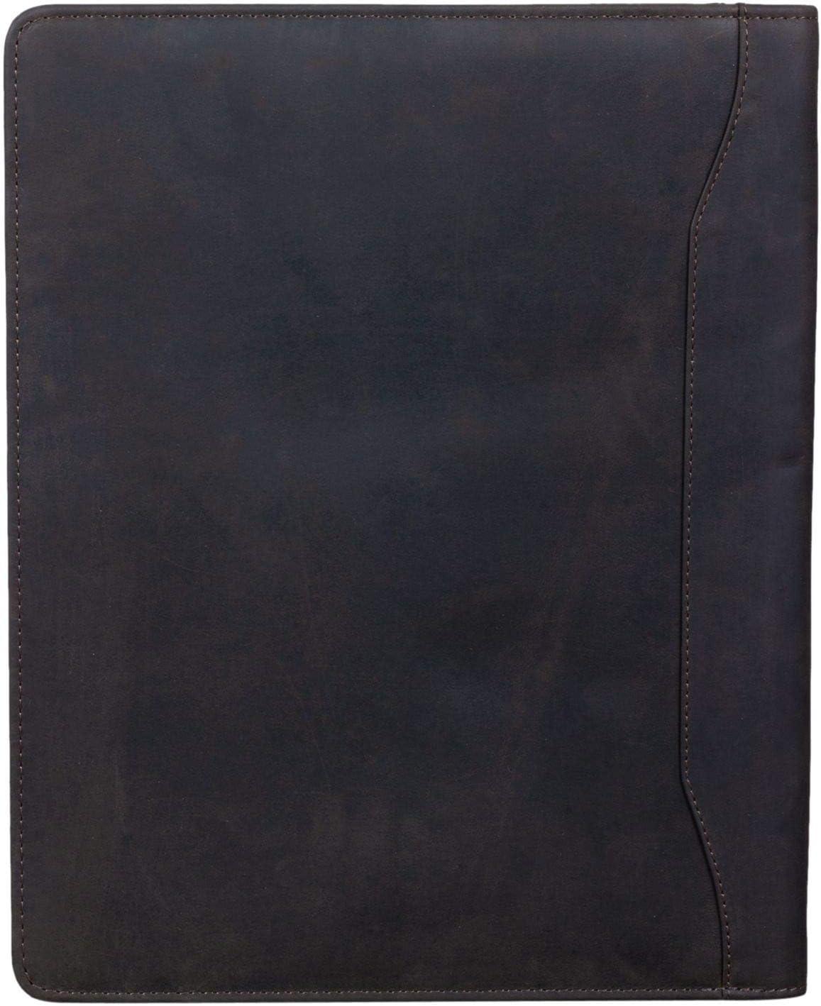Color:Kara Cognac STILORD Scott Carpeta de Documentos de Cuero Portadocumentos Vintage A4 Organizador de Conferencias con Cremallera de Piel