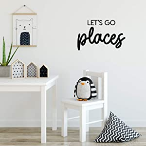 Vinyl Wall Art Decal - Let's Go Places - 14