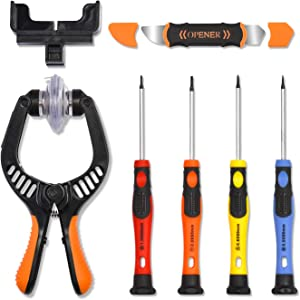 UnaMela iPhone Screen Opening Tool Kit, LCD Screen Suction Cup Plier with Powerful Suction and Anti-Static Pen, Suitable for Replacing Mobile Phone, iPhone, iPad, Tablet, Laptop Screen Repair Tools