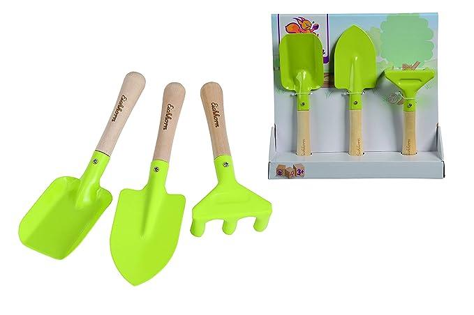 Eichhorn 100004575 - Gartenwerkzeug, 3-tlg; enthält Spaten, Sandschaufel, Rechen, FSC 100% Zertifiziertes Birkenholz