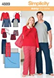 Simplicity Sewing Pattern 4889 Plus Size Unisex