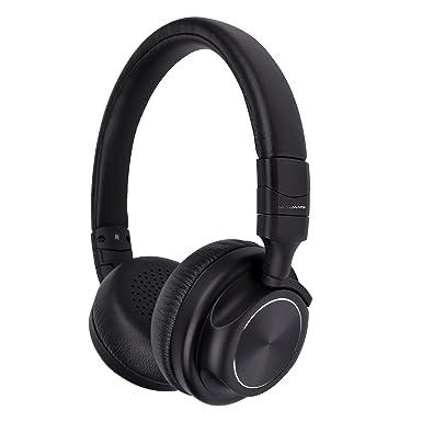RevJams studiolite compacto Bluetooth inalámbrico auriculares de diadema con sonido estéreo de alta fidelidad – ligero