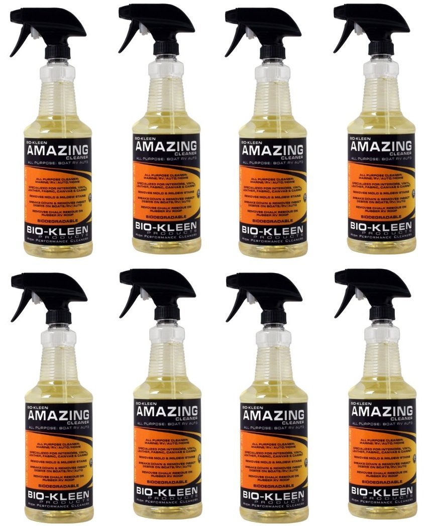 Bio-Kleen  M00307 Amazing Cleaner Multipurpose RV and Boat Vinyl Cleaner - 32 oz. (Quantity 8)