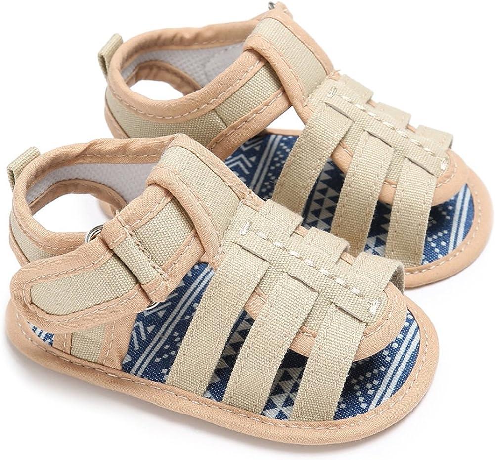 Icooltech Newborn Baby Girls Cartoon PU Leather Shoes Infant Boys Summer Outdoor Anti-Slip Sneaker