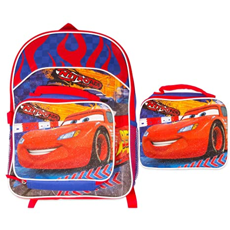 f7a7344dd6c Amazon.com  Disney Cars Nitroade Backpack with Detachable Lunch Bag  Toys    Games