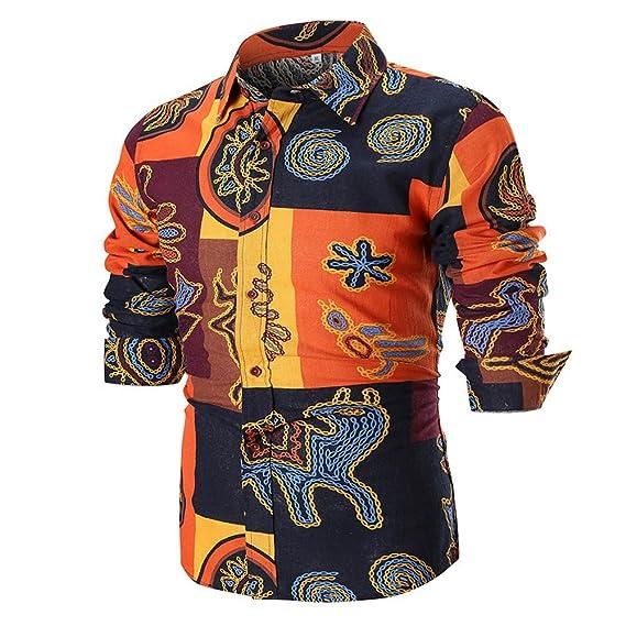 Blusa Superior de la Camisa de Manga Larga Delgada Ocasional del Verano de los Hombres de la Personalidad de Internet: Amazon.es: Ropa y accesorios