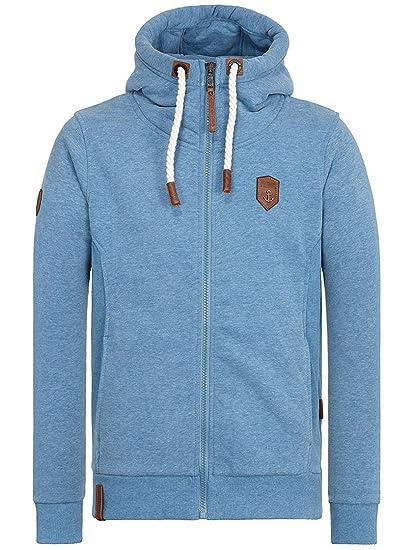Amazon.com   Naketano Men s Zipped Jacket Birol IX Light Blue ... 6a0f6436e8