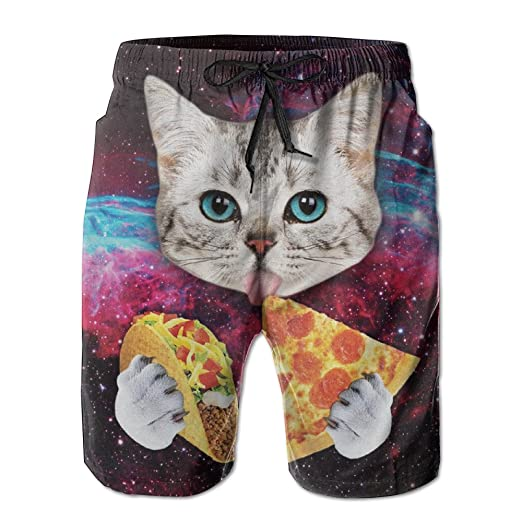 20495997d9 Amazon.com: Taco Cat Pizza Beachwear Board Shorts Swim Trunk: Clothing