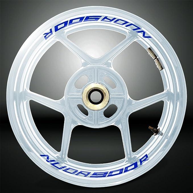 Stickman Vinyls Reflektierende Blau Motorrad Inner Rim Tape Decal Aufkleber Kompatibel Mit Husqvarna Nuda900r Auto