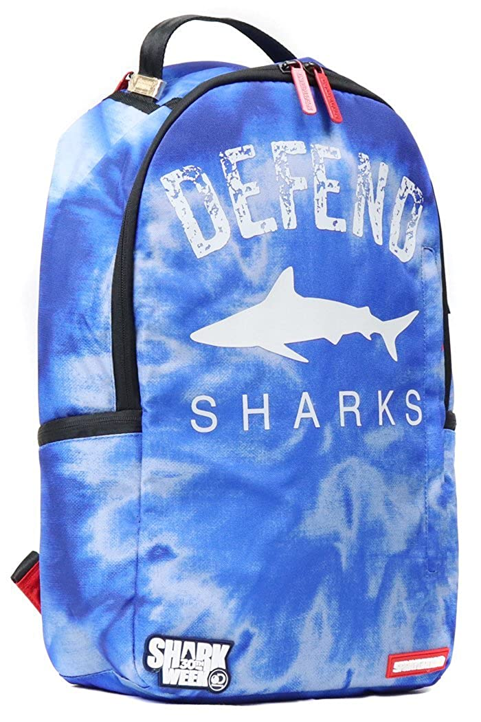 SPRAY GROUND スプレーグラウンド DEFEND SHARKS シャーク サメ 鮫 タイダイ カラフル バックパック リュックサック 鞄   B07G25RH1N