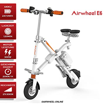 Airwheel E6 Bicicleta Eléctrica S de Bicicleta con Motor Mini E-Bike Bicicleta Plegable para
