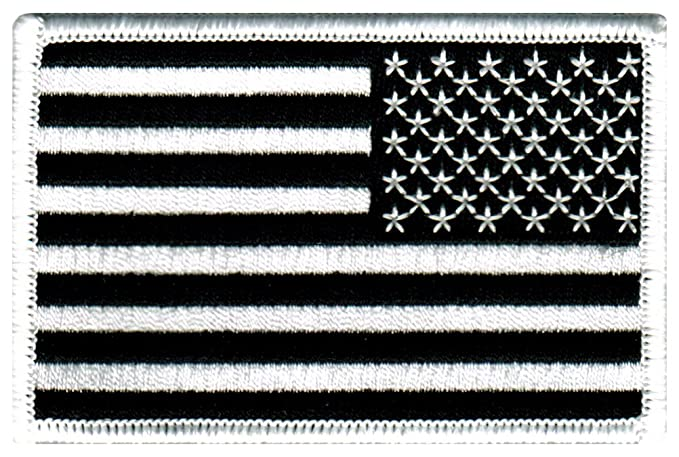 Image Unavailable. Image not available for. Color  American Flag  Embroidered Patch Reverse Black United States Subdued Military f347415c3b6