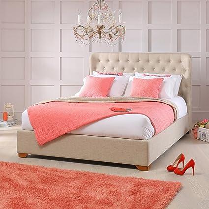 Luxor Natural tapizado tela respaldo alto 5 pies king tamaño ...