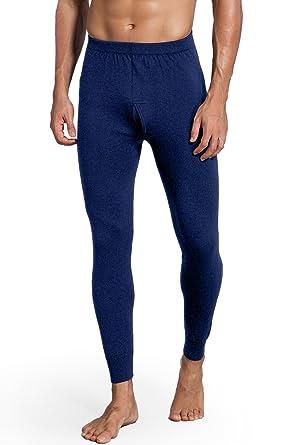 a44237bfac0 Zhili Men s Long-Underwear Pants in Organic Merino Wool(Dark blue M)